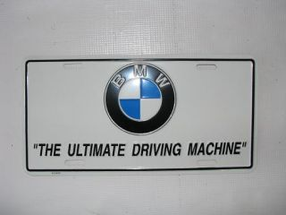 Ultimate Driving Machine License Plate BMW Styling