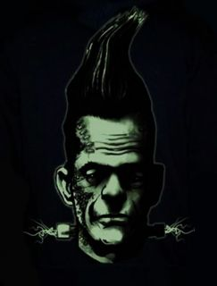 Too Fast Franky Baby Hoodie Horror Frankenstein Rockabilly Tattoo Goth Punk Emo