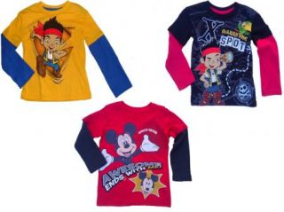 Disney Jake The Neverland Pirates Mickey Mouse Mock Layer Kids Toddler Boys Tee