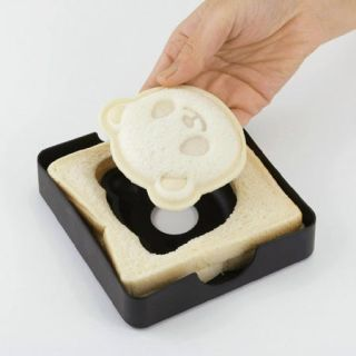 Cute Panda Bear Sandwich Pocket Maker Bread Toaste Mold Mould Cutter Stamp Japan