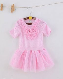 1pc Baby Girl Kids Infant Flower Top Tutu Party Princess Dress Clothes Outfit