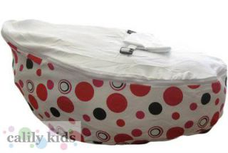 Baby Toddler Kids Portable Bean Bag Seat Snuggle Bed Pink Dot White