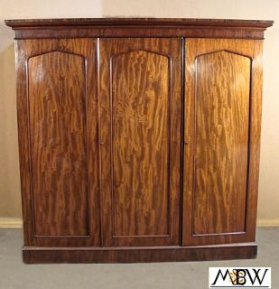 Antique Victorian Mahogany Sectional Armoire Wardrobe