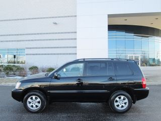 2003 Toyota Highlander AWD V6 Black Runs Excellent Super Clean SUV