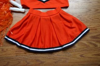 Auburn Alabama Cheerleader Outfit Halloween Costume Cheer Set 4T Pom Poms Bow