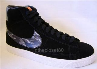 New Nike Blazer Mid GS Vintage Womens Boys Girls Trainers Black Grey Camo White