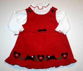Good Lad Baby Girl's Christmas Corduroy Dress and Bodysuit Set 6 9 Months