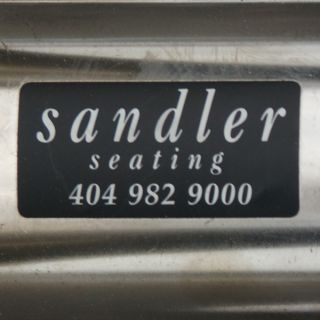 1 Sandler Seating Chrome Swivel Low Stool