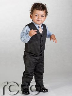 Boys Black Waistcoat Suit Baby Boys Grey Suits Boys Wedding Suits Page Boy Suits