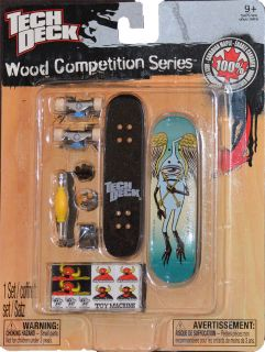 Tech Deck Wood Competion Series Toy Machine Josh Harmony Finger Board New NIP