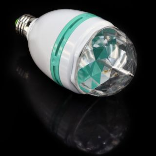 E27 3W Colorful Rotating RGB LED Stage Light Bulb Disco Party Voice Activated