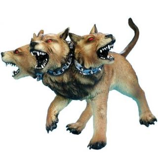 Latex Cerberus Dog Heads Halloween Prop Decoration New