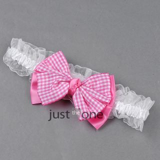 Toddler Vintage Plaid Bowknot Headband Baby Kids Headdress Girl Hair Accessories