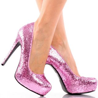 Pink Glitter Party Dance Womens Stiletto High Heel Platform Pumps Shoes 5 5