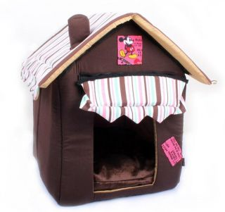 New Coffee Yellow Soft Pet Dog Cat House Bed Doghouse Dog Supplies