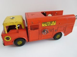 Vtg Nylint Toy Power Light Co Lineman Wire Truck 3200 Trailer Telephone Pole