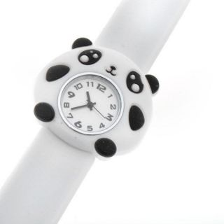 Sports 3D Children's Kids Cartoon Bendable Strap Slap Wrist Watch Pig Frog Panda
