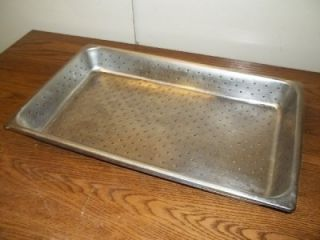 Full Size x 2 Perforated Drain Stainless Steel SS Buffet Steam Table Insert Pan