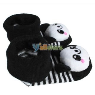 5pairs Cartoon Newborn Baby Toddler Infant Boy Nonslip Socks Slipper Shoes Boots