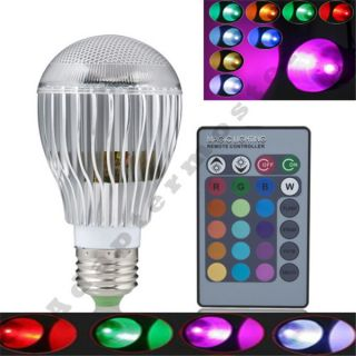 3W 4W 9W E27 MR16 Cool Warm 16 Color LED RGB Party Lamp Light Bulb IR Remote