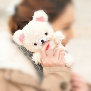 Cool Brown White Teddy Bear Cool Plush Toy Doll Cover Case for iPhone 4 4S 5 5g