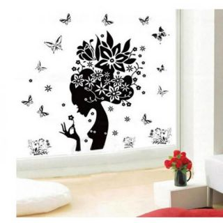 Flower Fairy PVC Wall Art Stickers Wallpapers Vinyl Art Decals