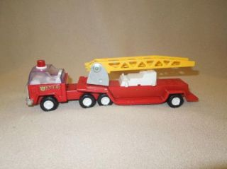 Vintage Buddy L Hook and Ladder Pressed Steel Toy Fire Truck Made in Japan
