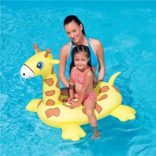 Kids Giraffe Ride on Inflatable Swimming Pool Float Toy
