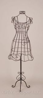 "Wrought Iron Metal 52"" Tall Dress Form Mannequin 91812"