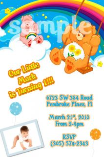 Care Bear Personalized Birthday Invitation You Print