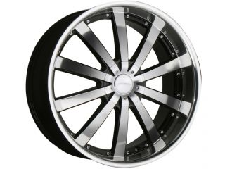 "22"" Ace Executive Black Staggered Wheels Rims 300C Charger Magnum Challenger"
