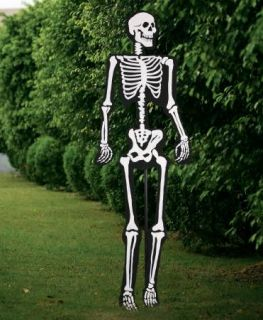 5' Happy Skeleton Silhouette Plastic Outdoor Yard Halloween Prop Decoration New