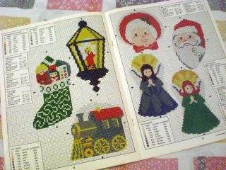 Counted Cross Stitch Needlepoint Books Homemade Christmas Plus Tree Ornaments