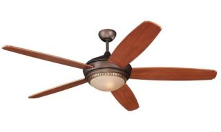 "60"" Roman Bronze Ceiling Fan w Remote Control 5FNR60RID Display"