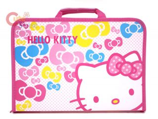 Sanrio Hello Kitty Project File Bag Folder Case Pink