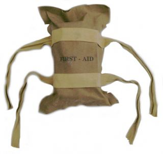 WWII Airborne Parachute First Aid Kit with Contents