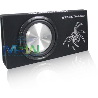 "Soundstream® Stealth 13BX 13"" Shallow Mount Loaded Sub Enclosure w Stealth 13"