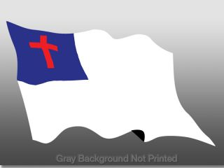 Waving Christian Flag Sticker Wave Jesus Flags Decal
