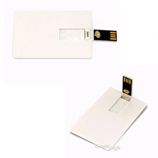Lot Blank Credit Card Shape USB Flash Drive Memory 2 0 2GB 4GB 8GB 16GB 32GB 64G
