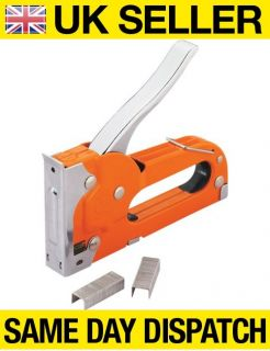 Heavy Duty Metal Staple Gun Tool 1000 Staples