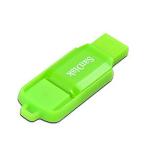 SanDisk 8GB Cruzer Switch USB 2 0 Flash Drive Memory Stick Green SDCZ52N 008G