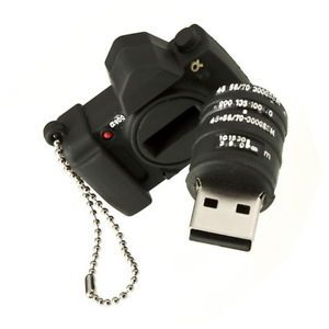 2GB USB 2 0 Black Camera Shape Flash Pen Drive Memory Stick Thumb Design S9