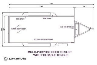 Trailer Plans Flatbed Tandem Axle Trailer