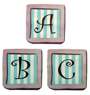 Alphabet Letter Blocks Pink Blue Spell Name 50 Wallies Wall Stickers Decals New