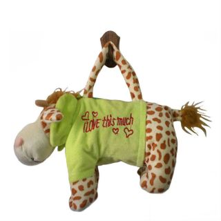 Animal Design Baby Kid Boy Girl Plush Toys Soft Handbag Zipper Bag Fashion Totes