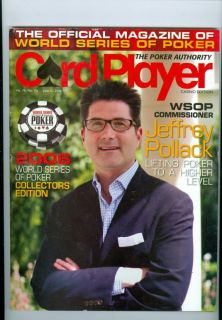 2006 Card Player Magazine Jeffery Pollack WSOP Commisioner Lifting Poker