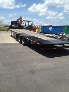 2013 Loadmax Gooseneck Flatbed Trailer