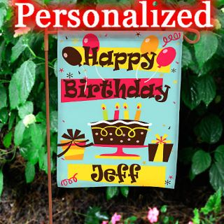 Birthday Party Personalized Garden Yard Flag Flags 100