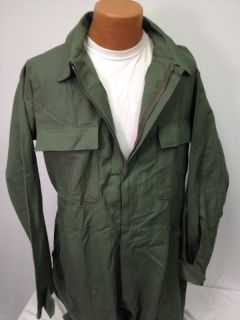 Coveralls Utility Cotton US Army USMC Military OD Green Zip Mens XLarge XL