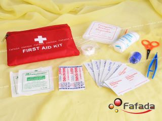 Outdoor First Aid Kit Pack Medical Bag Pouch Travel Survival Emergency Treatment